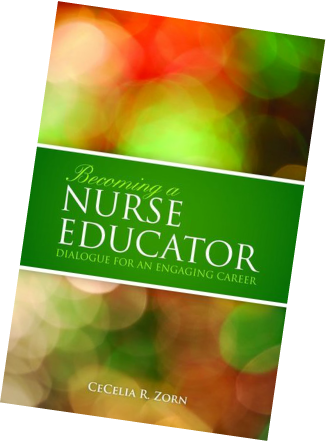 colored image of book cover: Becoming a Nurse Educator